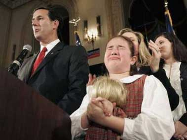 santorum crying girl